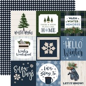 Journaling 4X4 Cards Paper - Welcome Winter - Carta Bella - PRE ORDER