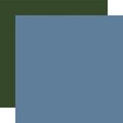 Light Blue / Dark Green Coordinating Solid Paper - Welcome Winter - Carta Bella - PRE ORDER