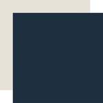Navy / Cream Coordinating Solid Paper - Welcome Winter - Carta Bella