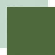 Green / Mint Coordinating Solid Paper - Welcome Winter - Carta Bella - PRE ORDER