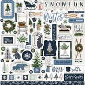 Welcome Winter Element Sticker - Carta Bella - PRE ORDER