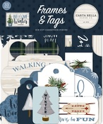 Welcome Winter Frames & Tags Ephemera - Carta Bella - PRE ORDER