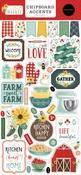 Sunflower Market 6x13 Chipboard Accents - Carta Bella