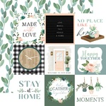 Journaling 4X4 Cards Paper - Gather At Home - Carta Bella