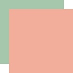 Pink / Light Green Coordinating Solid Paper - Gather At Home - Carta Bella