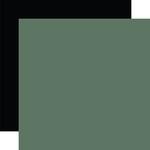 Dark Green / Black Coordinating Solid Paper - Gather At Home - Carta Bella