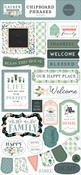 Gather At Home 6x13 Chipboard Phrases - Carta Bella