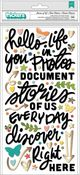 Story of Us Phrase Puffy Thickers With Gold Foil - Fernwood - Vicki Boutin