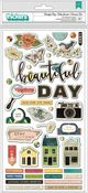 Beautiful Day Chipboard Thickers with Gold Foil - Fernwood - Vicki Boutin