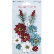 Festive Mix Paper Flowers - 49 And Market - PRE ORDER