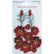 Festive Berry Paper Flowers - 49 And Market - PRE ORDER
