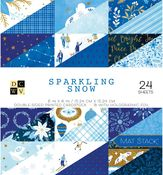 Sparkling Snow 6x6 Paper Stack - Die Cuts With A View
