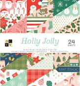 Holly Jolly 6x6 Paper Stack - Die Cuts With A View