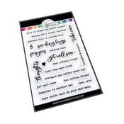 Typed Up Sentiment Stamp Set - Catherine Pooler