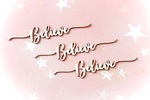Believe Chipboard Embellishments - Memory-Place - PRE ORDER
