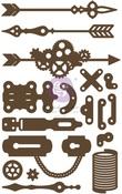 Arrows & Keyholes Chipboard Diecut - Prima