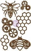 Honeycomb Chipboard Diecut - Prima