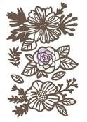 Floral 2 Chipboard Diecut - Prima