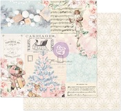 Icy Blue Christmas Paper - Christmas Sparkle - Prima
