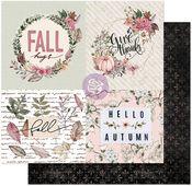 Fall Hugs Paper - Hello Pink Autumn - Prima