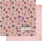 Grateful Hearts Paper - Hello Pink Autumn - Prima
