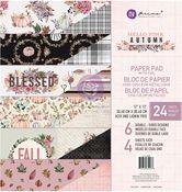 Hello Pink Autumn Collection 12x12 Paper Pad - Prima - PRE ORDER