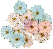 Peppermint Sweet Flowers - Christmas Sparkle - Prima - PRE ORDER