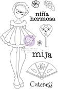 Mija Media Doll Stamp - Julie Nutting