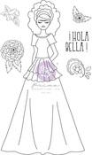 Milagros Media Doll Stamp - Julie Nutting