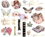 Hello Pink Autumn Chipboard Stickers - Prima