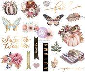 Hello Pink Autumn Chipboard Stickers - Prima - PRE ORDER