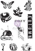 Hello Pink Autumn Clear Stamps - Prima - PRE ORDER