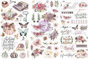 Hello Pink Autumn Rub on Transfers - Prima
