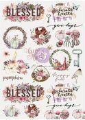 Hello Pink Autumn Collection Rice Paper #2 - Prima - PRE ORDER