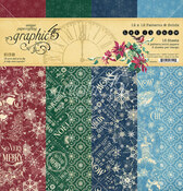 Let It Snow 12x12 Patterns & Solids Paper Pad - Graphic 45 - PRE ORDER - PRE ORDER