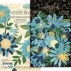 Shades Of Blue Flower Assortment - Graphic 45