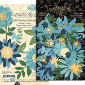 Shades Of Blue Flower Assortment - Graphic 45 - PRE ORDER