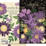 Shades Of Purple Flower Assortment - Graphic 45 - PRE ORDER