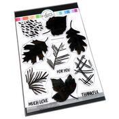 Painted Leaves Stamp Set 6x8 - Catherine Pooler