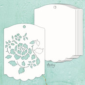 Rose Tag Chipboard Album Base - Mintay Chippies - Mintay Papers - PRE ORDER