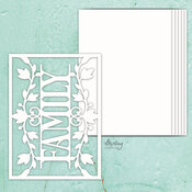 Family Chipboard Album Base - Mintay Chippies - Mintay Papers - PRE ORDER