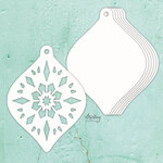 Christmas Bauble Chipboard Album Base - Mintay Chippies - Mintay Papers - PRE ORDER