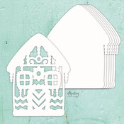 Gingerbread House Chipboard Album Base - Mintay Chippies - Mintay Papers