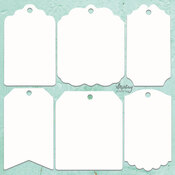 Tags Chipboard Diecut - Mintay Chippies - Mintay Papers - PRE ORDER