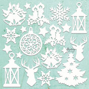 Christmas Mix Chipboard Diecut - Mintay Chippies - Mintay Papers - PRE ORDER