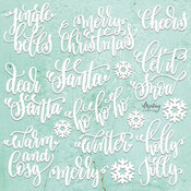 Christmas Circles Chipboard Diecut - Mintay Chippies - Mintay Papers - PRE ORDER