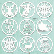 Christmas Words Chipboard Diecut - Mintay Chippies - Mintay Papers - PRE ORDER