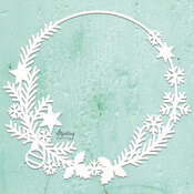 Christmas Wreath Chipboard Diecut - Mintay Chippies - Mintay Papers - PRE ORDER