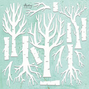 Trees Chipboard Diecut - Mintay Chippies - Mintay Papers - PRE ORDER
