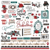 Our Friendship Thru The Years Element Stickers - Photoplay
